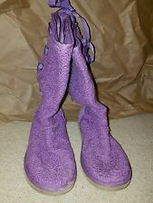 ugg boots lavendar women's lace up rear