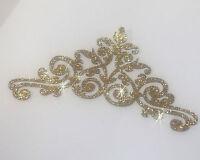 COURONNE - TIARE -  10 cm  OR à customiser hotfix Glitter GOLD TIARA