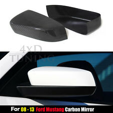 Real Carbon Fiber For Ford Mustang Add On Caps Side Mirror Cover Trim 2008-2013