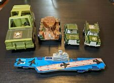 Vintage Tootsie Toy military lot Mark 2 Aircraft Carrier Jeep (2) Deuce & Half