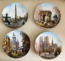 Limoges Louis Dali �Rare Set of 4 Collector Plates � Limited Edition Paris🗼��