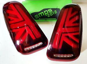 Mini Gen 1 RED LED Union Jack Rear tail Lights R52, 2004-2007 LCI