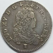 - LOUIS XV - 1/3 Écu de France - 1723 9 - Rennes -