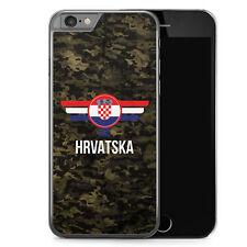 iPhone 6 6s Hard Case Hülle - Hrvatska Kroatien Camouflage mit Schriftzug Motiv