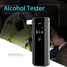 Digital Alcohol Tester LCD Police Breathalyzer Grade Accuracy Portable detector