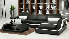 Ecksofa Sofa Couch Polster Wohnlandschaft Leder Eck Sofas Garnitur L Form HH4