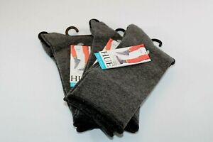 HUE Women's Jeans Socks 3 Pairs Gray Heather One Size Cotton Blend Comfort ~0~
