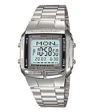 Vintage Casio DB360 Silver Databank Multilingual Telememo Digital Watch COD PP