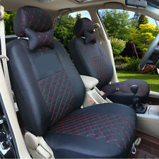 Black Car Seat Cover Set Full Seats Auto Cushion Headrest Winter CUSTOM MADE