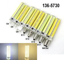 10X Dimmable GY6.35 G4 G8 G9 E10 E11 E12 E14 E17 BA15d BA15s 5730 SMD LED Bulb