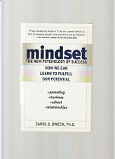 MINDSET THE NEW PSYCHOLOGY OF SUCCESS-DWECK-1ST/5TH 2006-PERSONAL POTENTIAL-NF