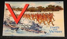 "OLD 1941 POSTCARD, VICTORY SERIES, ""V, STRIVE FOR VICTORY"", BEAUTIFUL CONDITION!"