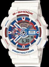 Casio G Shock GA110TR-7A Tri Color Mens Ana-Digi Watch with White Resin Band