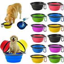 Pet Dog Cat Collapsible Feeding Bowl Travel Portable  Water Dish Feeder Green