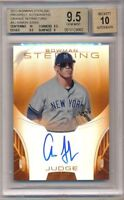 BGS 9.5 AUTO 10 AARON JUDGE 2013 Bowman Sterling ORANGE REFRACTOR #/75 GEM MINT