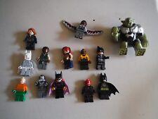 LEGO BULK LOT OF 13 SUPER HEROES MINIFIGURES BATMAN GREEN GOBLIN MORE