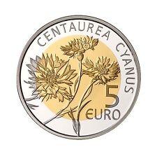 5 Euro Silber Nordisch Gold Luxemburg 2016 centaurea cyanus Kornblume Zyane PP