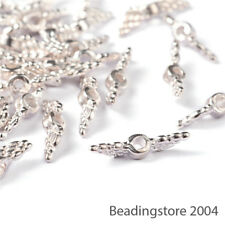 400pcs Tibetan Silver Angle Wing Metal Beads Loose Spacers Findings Craft 12mm