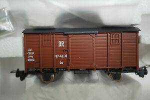 H0e Roco 34553 Ged. Güterwagen braun 97 - 42 - 12 DR - Unbespielt in OVP