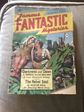 Science Fiction Book Famous Fantastic Mysteries 1940 August Darkness And Dawn