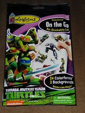 Teenage Mutant Ninja Turtles Colorforms On The Go Re-Stickable Set-Free Shipping