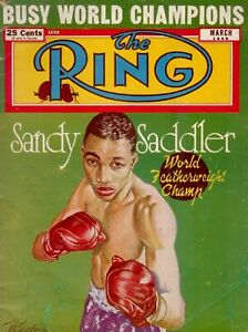 The Ring - Sandy Saddler on Cover - March 1949