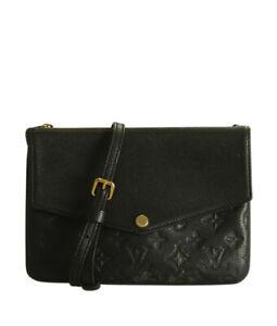 Louis Vuitton Twice Black Empreinte Leather Crossbody Bag