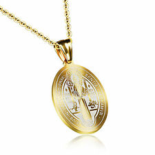 St Benedict Exorcism Cross Pendant Chain Necklace Supreme Protection Ghost Hunte