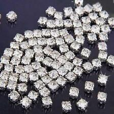 100PCs Sew on Clear Crystal Rhinestones Diamond Flatback Craft Dress Make Gift ~