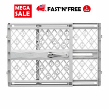 Pet Gate Dog Child Baby Safety Puppy Cat Door Expandable Barrier Plastic Fence