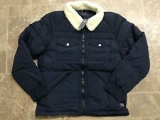 Abercrombie & Fitch Puffer Jacket Sherpa Collar Coat Mens Size L