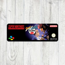 Étiquette SNES / Sticker : Street Fighter Alpha 2