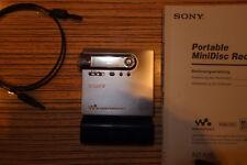 Sony md minidisc MZ n10 reproductor grabador plata metálica (73) + batería + al