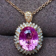 21Ct Oval Amethyst Simulnt Diamond Necklace Pendant Locket Silver Yellow Gold Fn