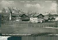 Ansichtskarte Krün Bayr. Alpen gegen Wettersteingebirge  (NR. 815)