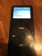 Apple iPod Nano 4th Generation, Black, 2GB, Fair Condition