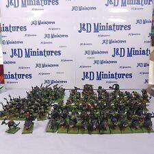 Gw warhammer orcos & goblins orcos oldhammer Ejército Todo de Metal Pro Pintado fuera de imprenta