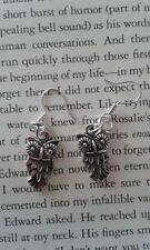 HANDCRAFTED EARRINGS - OWL - SILVER PLATED - BARN TAWNY SNOWY BIRD OF PREY