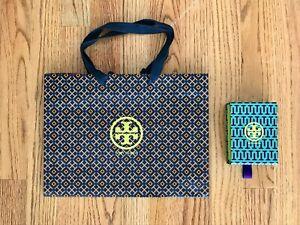 Tory Burch Blue Orange Gift Bag and Purple Blue Box – Lot of 2