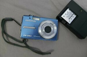 Olympus FE FE-280 8.0MP Digital Camera - Blue (Include Charger + 2 Batteries)