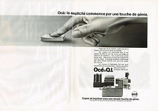 PUBLICITE ADVERTISING 094  1990  OCE   photocopieur   ( 2 pages)