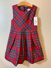 Vineyard Vines Girls Jolly Plaid Christmas Holiday Dress Calypso Red Size 7 NWT