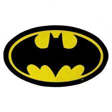 BATMAN RUG SHAPED FLOOR MAT CIHLDRENS BOYS BEDROOM NEW OFFICIAL