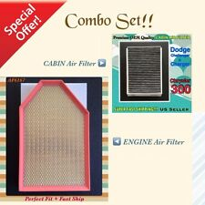 COMBO SET CARBONIZED Cabin + Engine Air Filter For Challenger Charger 300