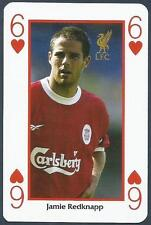 LIVERPOOL PLAYING CARD- #6H-JAMIE REDKNAPP