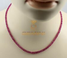 Rubellit Kette - rosa rote Turmalin Kette Halskette Damen 44 cm