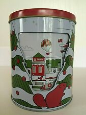 Christmas Carousel Musical Rotating Cookie Tin Container Hudsons Bay Empty