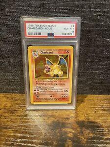⭐ Charizard 4/102 Pokemon Card - 1999 Base Set WOTC - Holo Rare - PSA 8 NM-M ⭐
