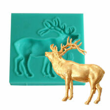 3D Christmas Deer Silicone Fondant Mold Cake Decorating Baking Mould Mold Tools