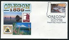 4376 * OREGON SESQUICENTENNIAL *1ST DAY OF SALE * OREGON CITY *